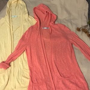 Bundle two hooded cardigans